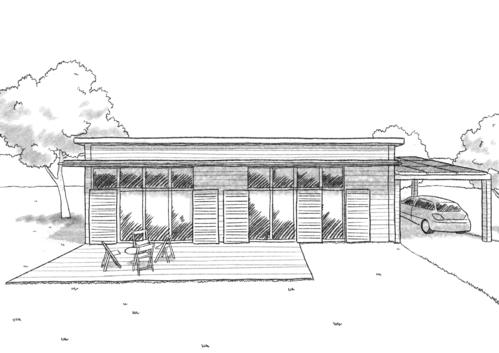 plan maison contemporaine plain pied ooreka. Black Bedroom Furniture Sets. Home Design Ideas