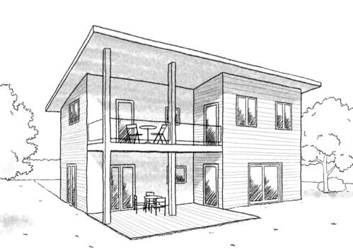 Plan maison tage avec terrasse ooreka - Plan maison simple 3 chambres ...