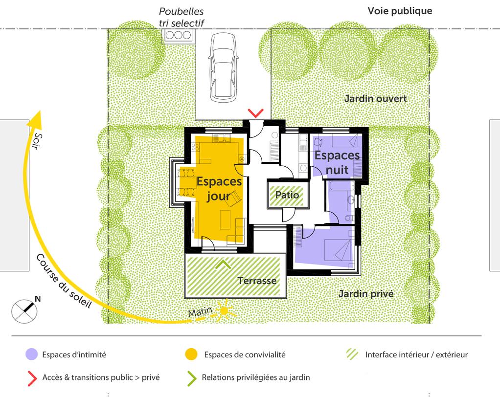 Maison Moderne Avec Patio Interieur plan maison à toit plat avec patio - ooreka