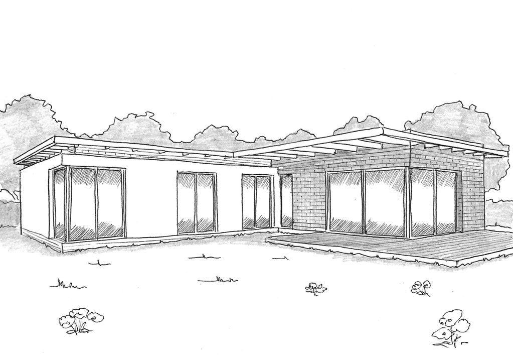 Esquisse 3D Plan de maison individuelle BBC
