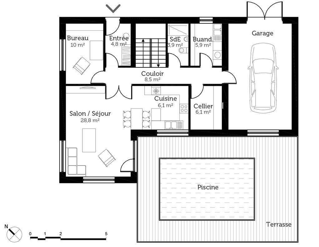 plan de maison classique