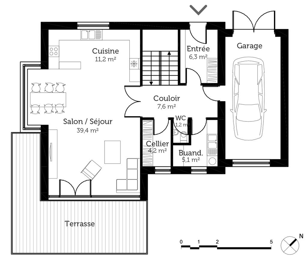 plan de maison 140 m