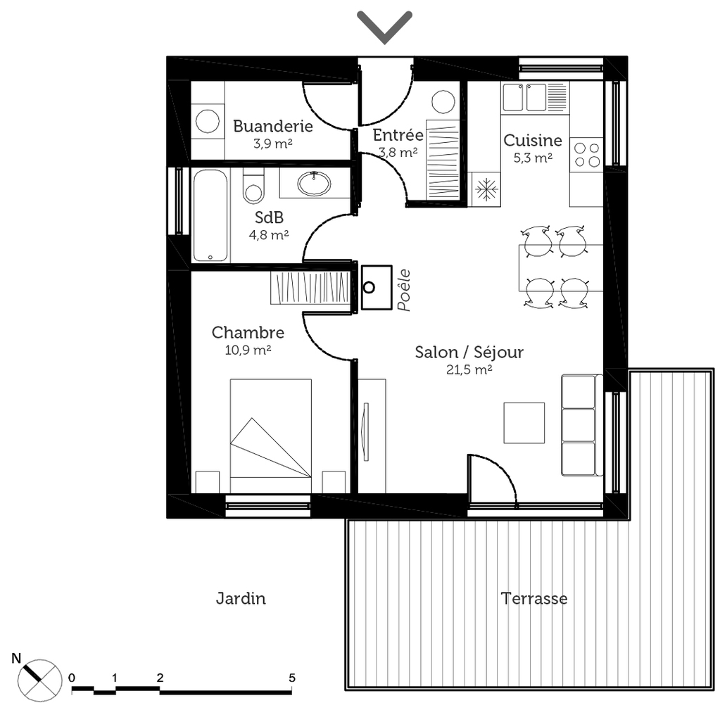 plan appartement de 50 metre carre
