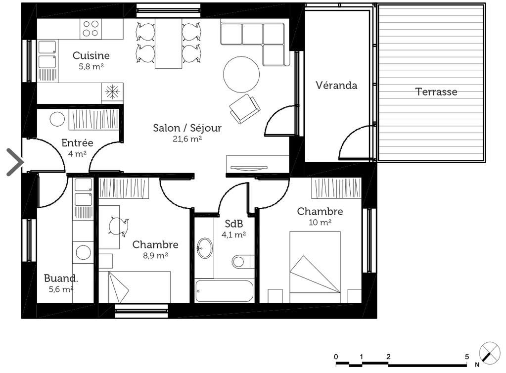 Plan Maison 60 M Avec Veranda Ooreka