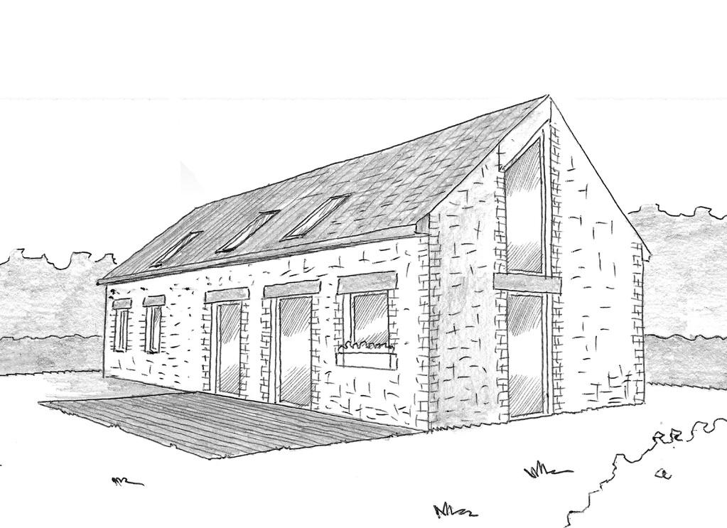 esquisse 3d plan de maison rectangulaire de 140 m - Plan De Maison Rectangulaire