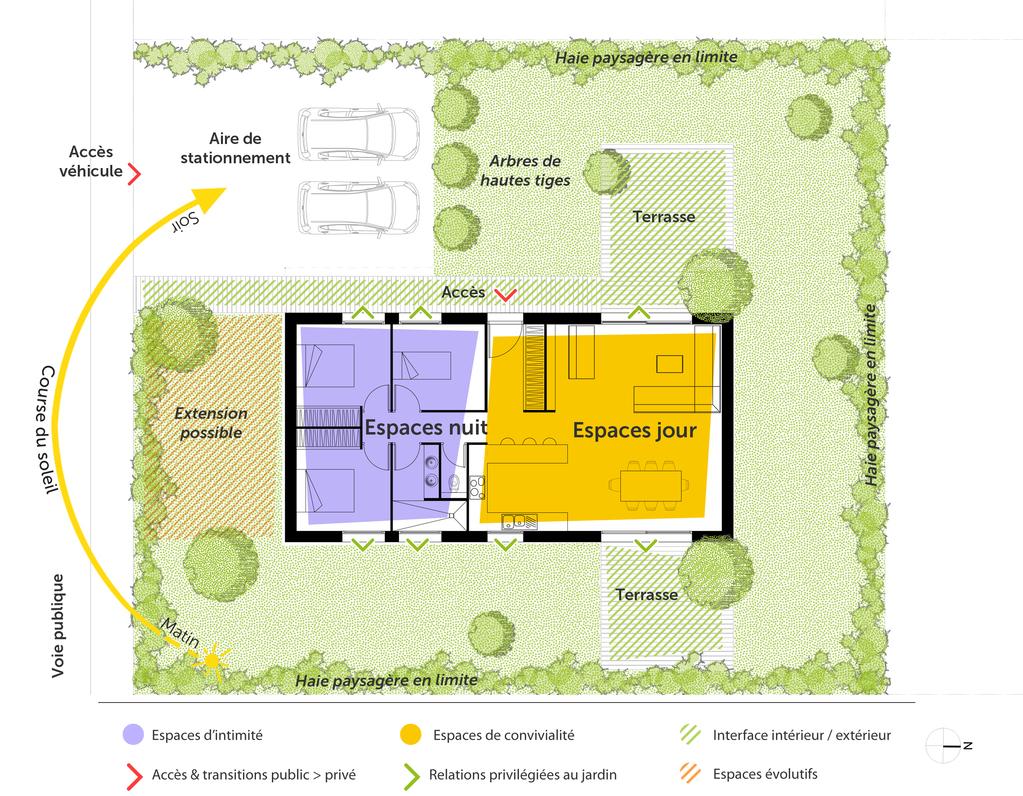 Plan de maison plain-pied 90 m² avec 3 chambres - Ooreka 1377e62f3ba0