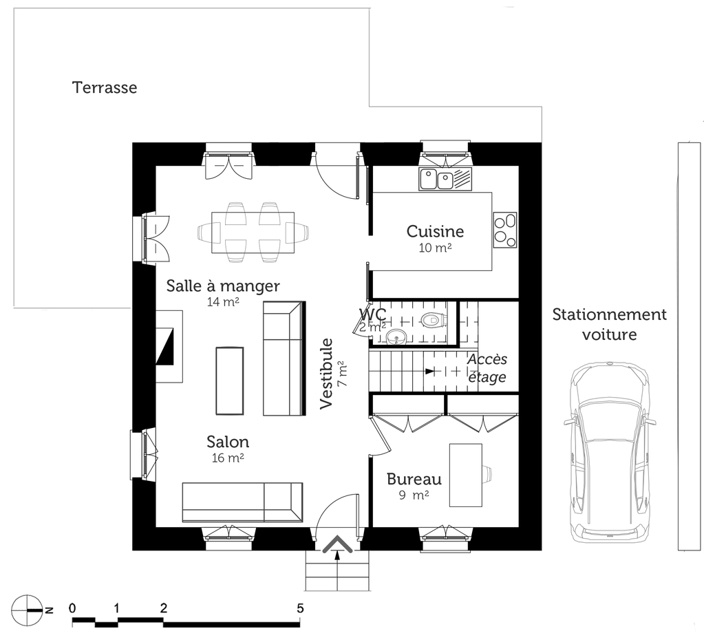 Plan maison bourgeoise ooreka for Construction maison plan