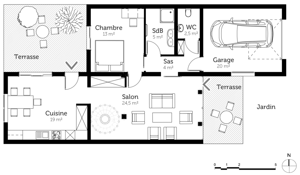 plan de maison orientale
