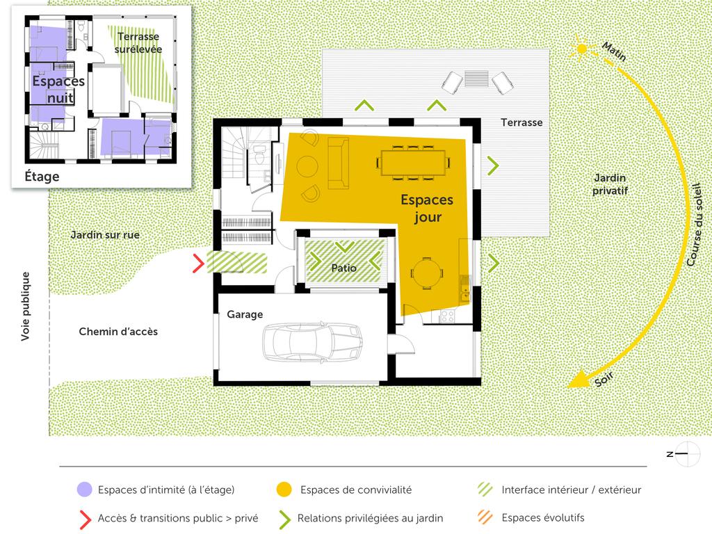 plan maison carre avie home. Black Bedroom Furniture Sets. Home Design Ideas