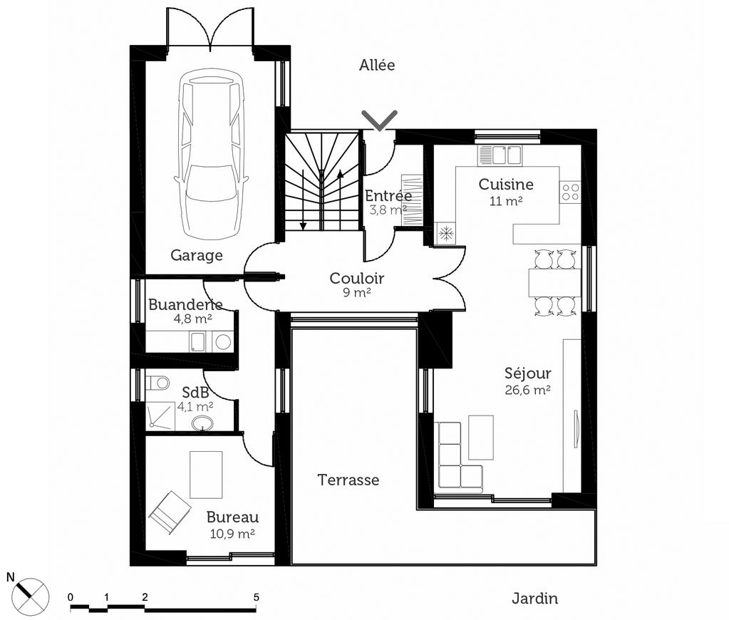 plan de maison 450m2