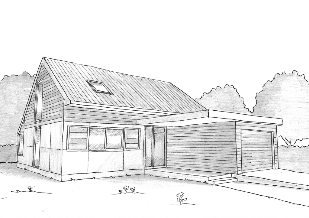 plan maison en bois avec 3 chambres ooreka. Black Bedroom Furniture Sets. Home Design Ideas