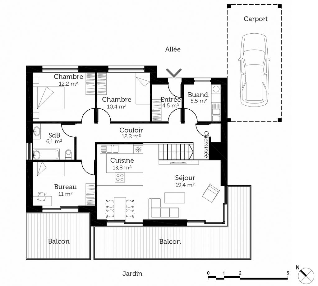 Plan Maison De Plain Pied 95 M Ooreka