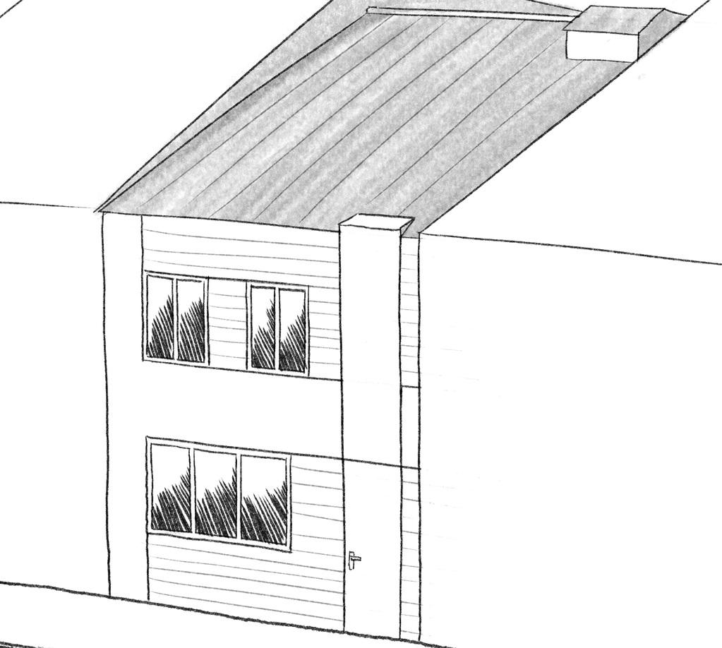 Esquisse 3D Plan de maison de 95 m² avec 2 chambres