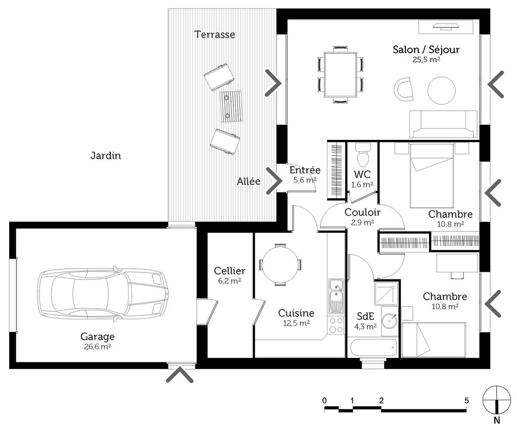 plan de maison 80