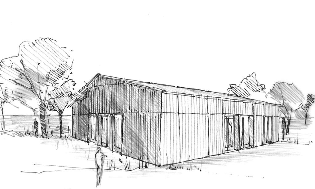 Esquisse 3D Plan de maison cubique moderne