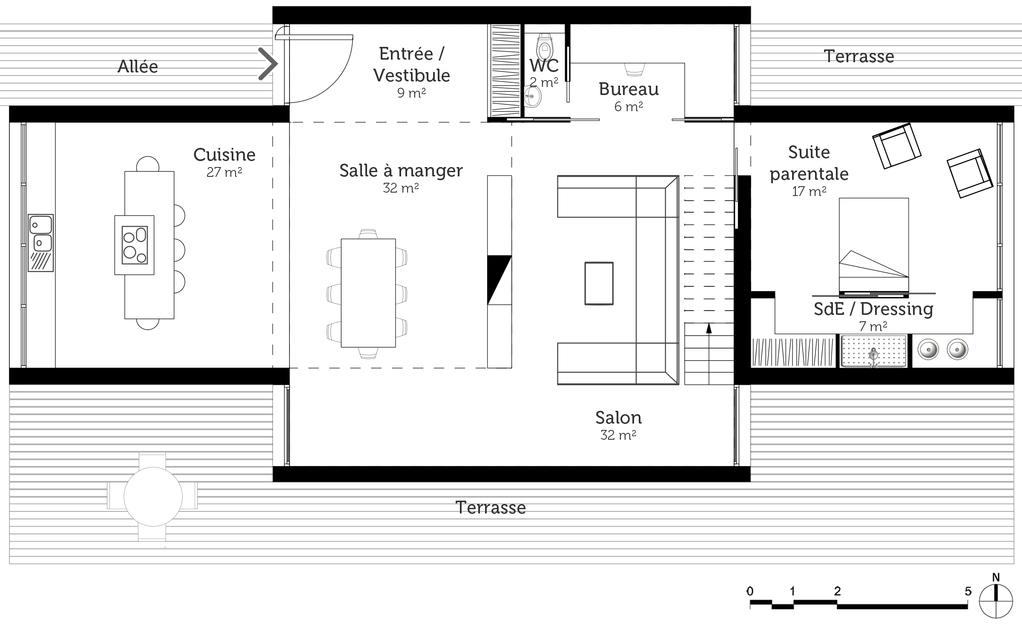 Plan grande maison tage ooreka for Plan d une grande maison