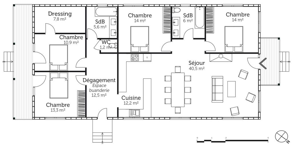 Plan Maison En Bois 4 Chambres Ooreka