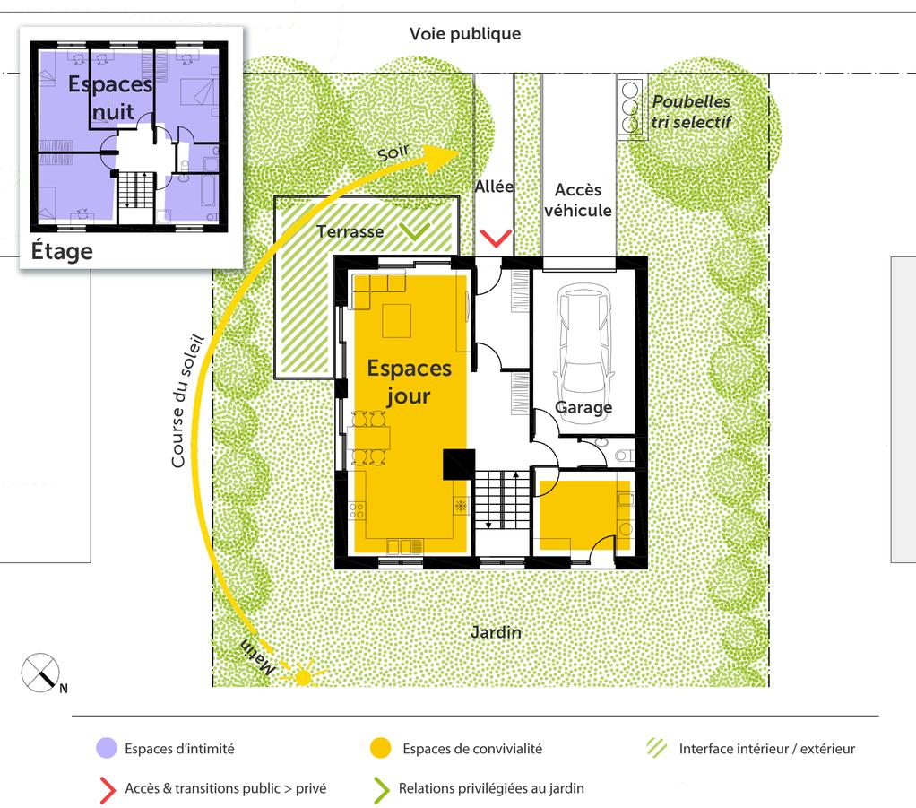 Plan maison cubique 140 m ooreka for Plan de maison en cube