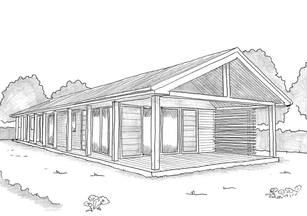 Esquisse 3D Plan de maison en longueur