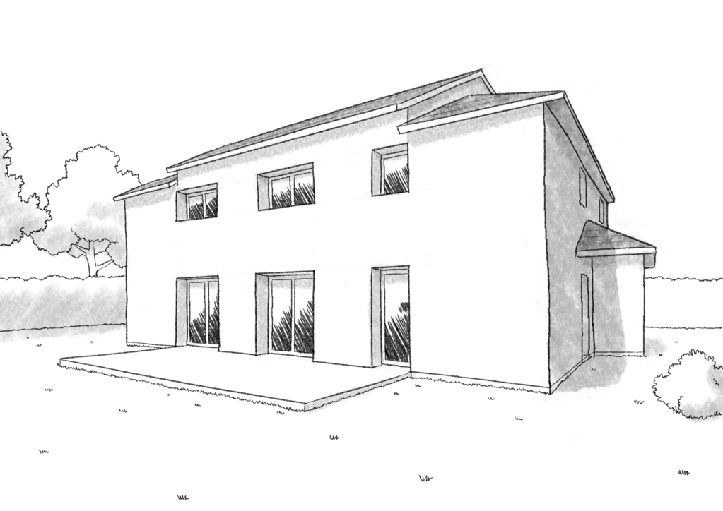 Plan maison tage 6 chambres ooreka for Plans et dessins de construction