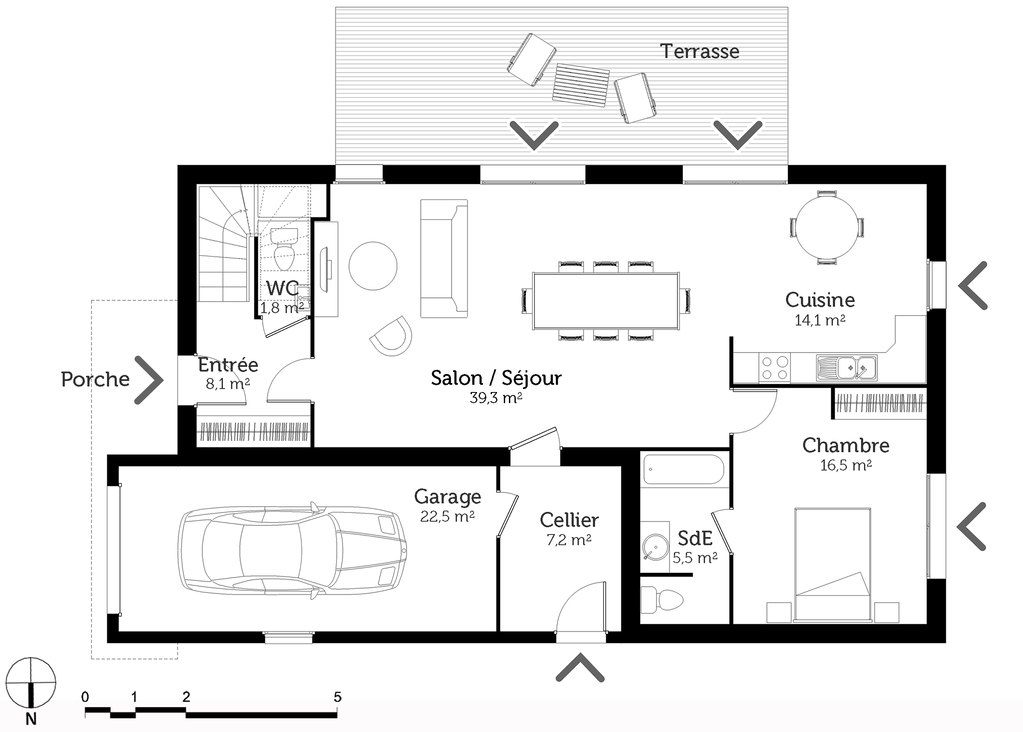Plan Maison  tage  Chambres  Ooreka