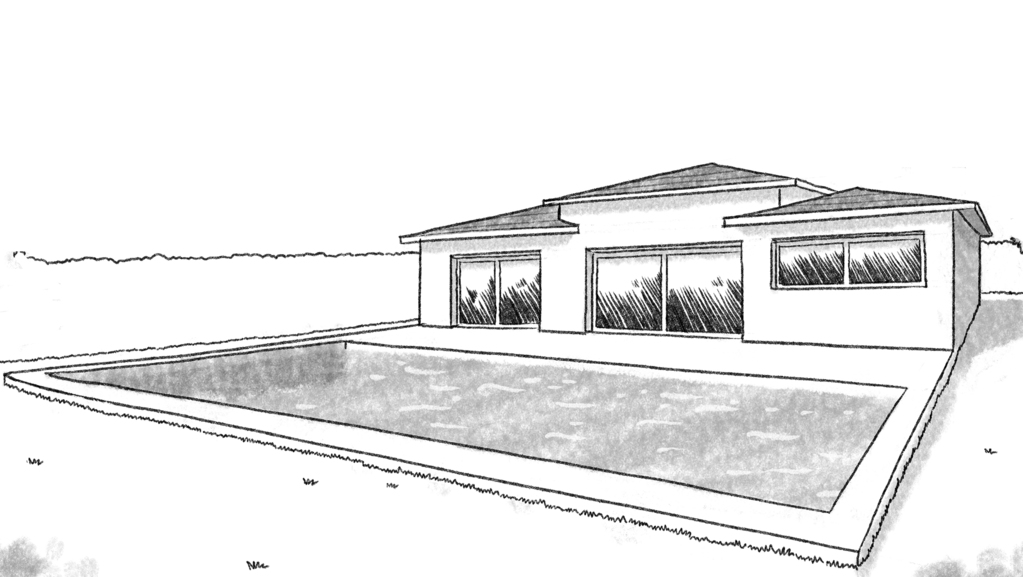 plan maison rectangulaire avec piscine ooreka. Black Bedroom Furniture Sets. Home Design Ideas