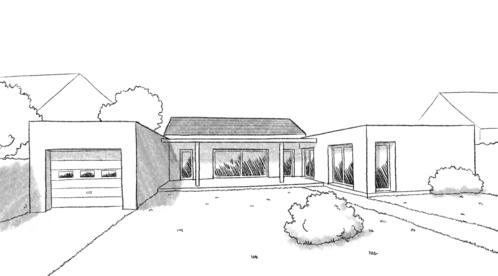Plan maison en u avec garage for Plan de maison en u ouvert