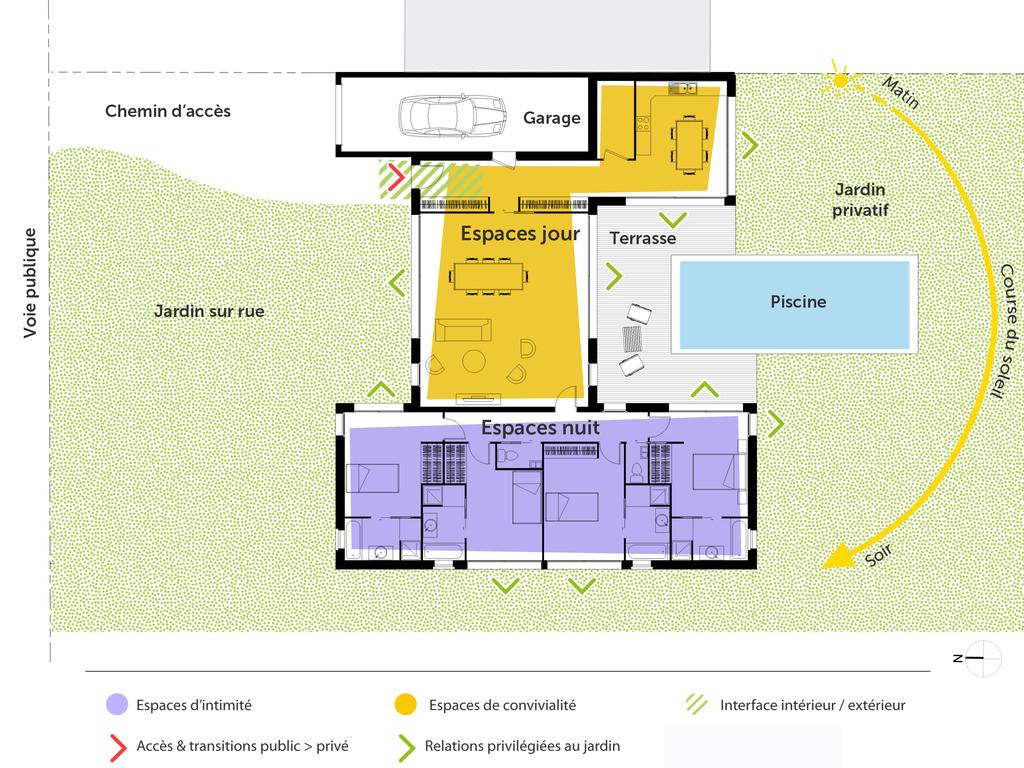 Plan Maison Familiale plan maison familiale avec 4 chambres - ooreka