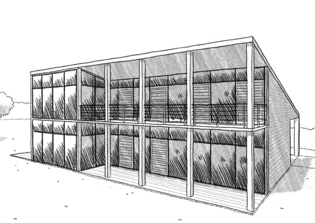 Esquisse 3D Plan de maison BBC moderne