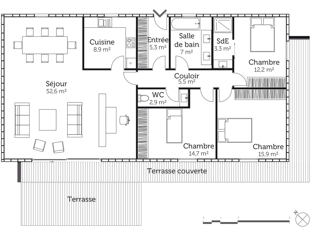 Plan maison bbc plain pied ooreka for Plan maison bbc