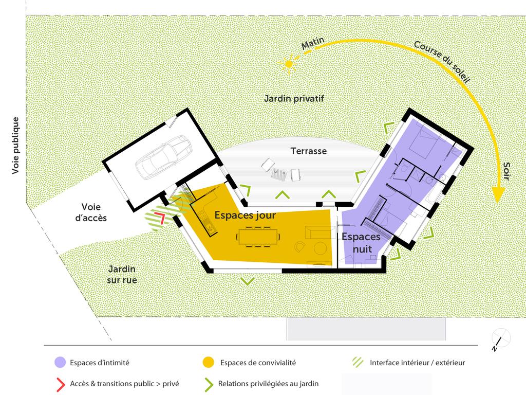 Plan maison en u ouvert ooreka - Maison en forme de u ...