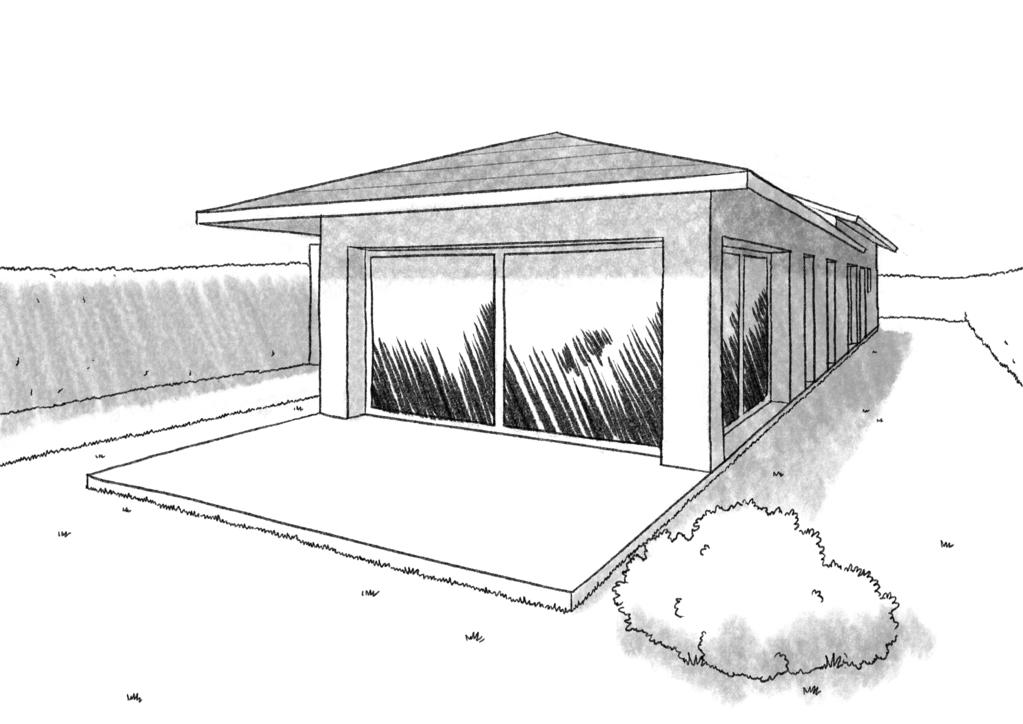 plan de maison sur un terrain en longueur