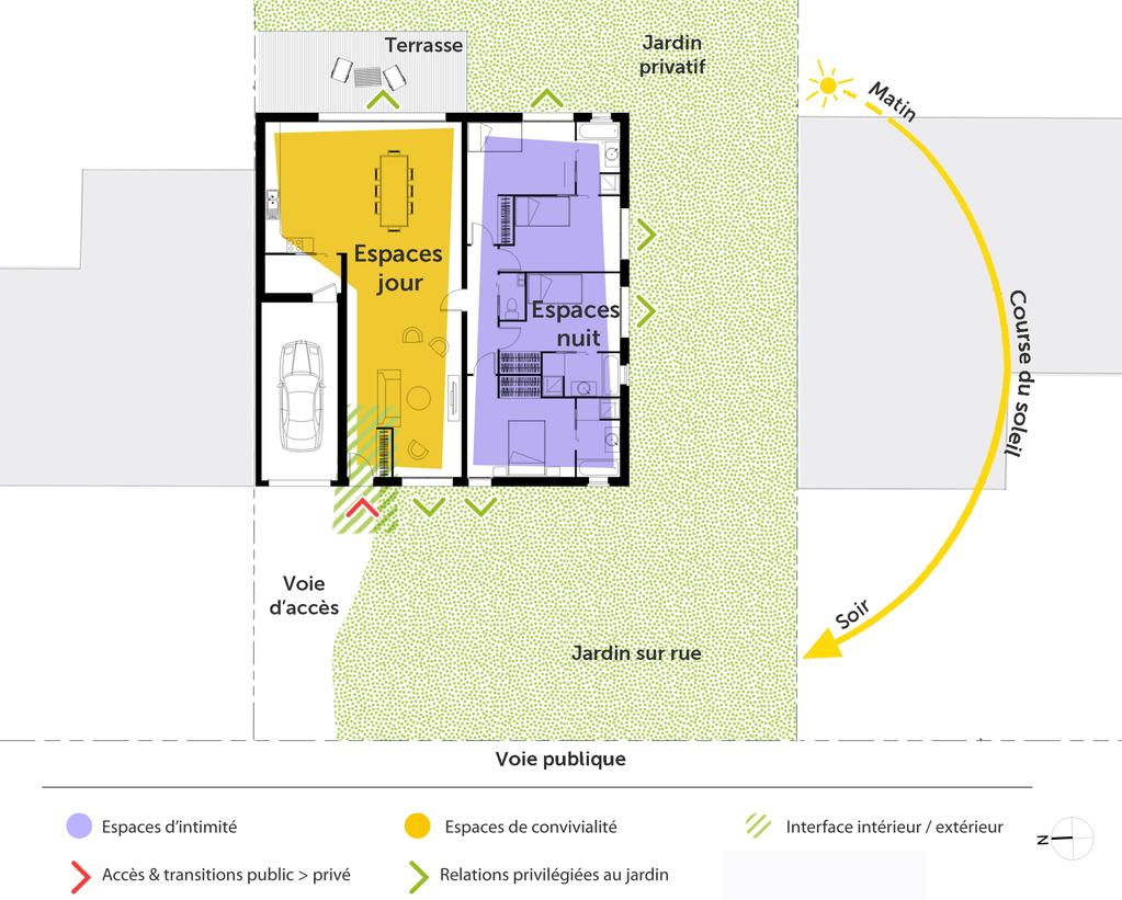 Plan Porte À Galandage plan maison carrée avec 4 chambres - ooreka