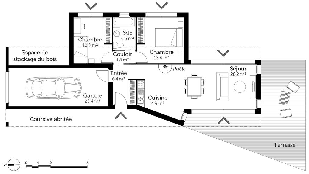 plan de maison 70 m