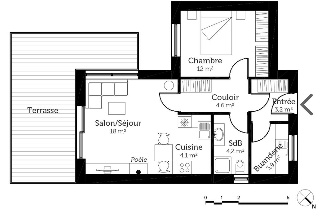 plan de maison 50 m