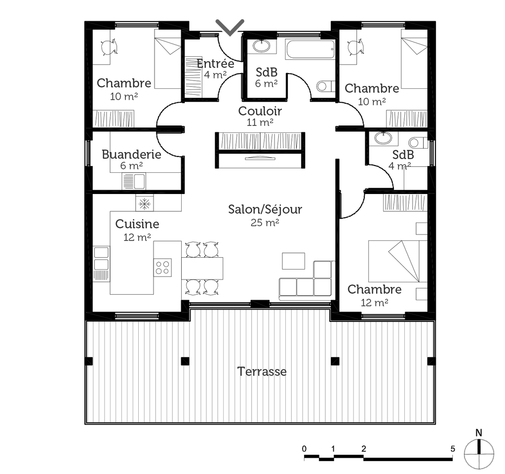 100 m²