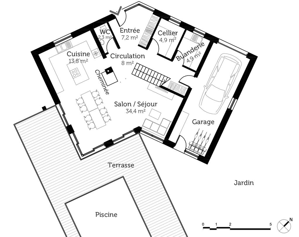 plan de maison 160 m