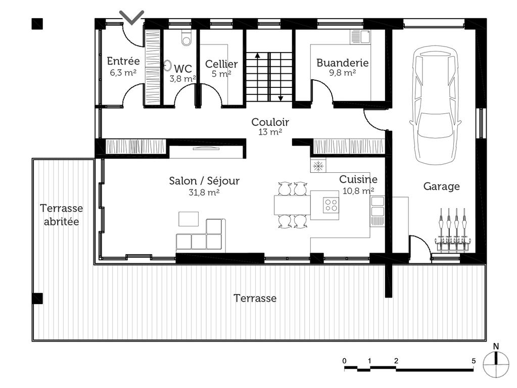 Plan Maison Bbc Contemporaine Ooreka
