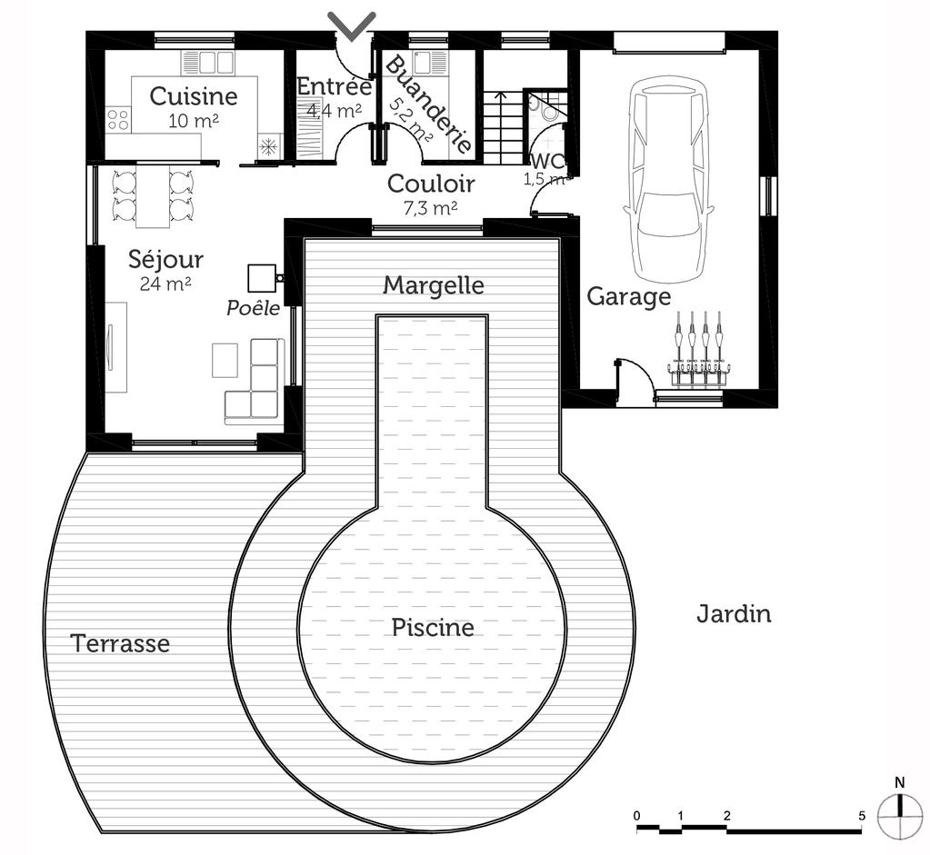 Plan de maison en l avec etage 100 m le plan en z for Plan de maison en l