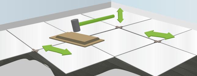 Ajustez le niveau du carrelage au sol