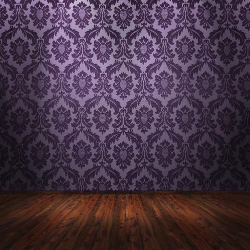 Papier Peint Baroque Violet