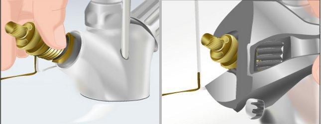 R parer les joints d 39 un robinet qui fuit plomberie - Demonter un robinet de lavabo ...