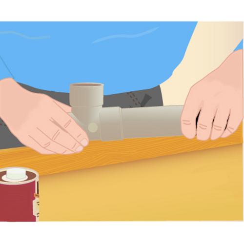 Faire un raccord tuyau PVC