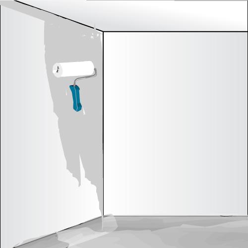 3. Appliquez La Colle Sur Le Mur