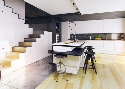 placard sous un escalier coulissant ooreka. Black Bedroom Furniture Sets. Home Design Ideas