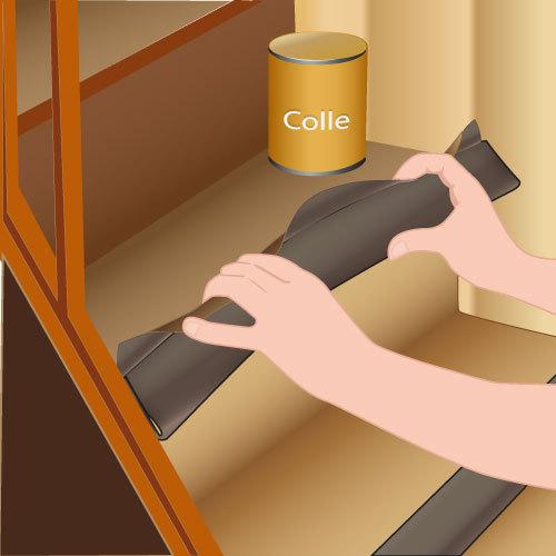pose coll e de moquette dans un escalier avec profil pour. Black Bedroom Furniture Sets. Home Design Ideas
