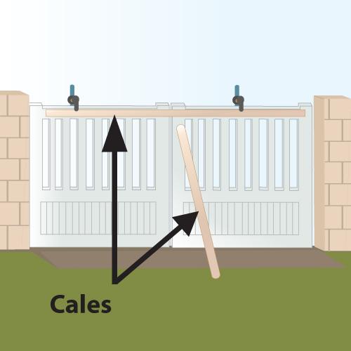 Poser un portail battant (scellement au mortier)