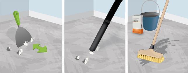 Decapeur thermique colle moquette for Retirer colle moquette sur beton