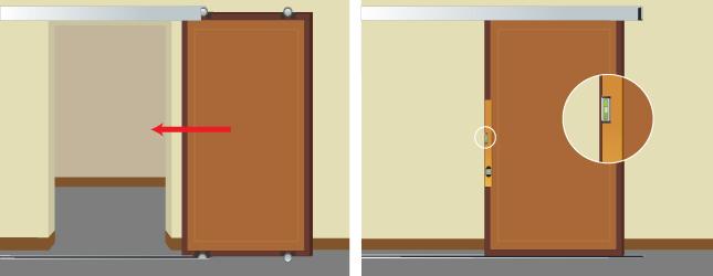 installer une porte coulissante - porte - Installation Porte Coulissante Dans Le Mur