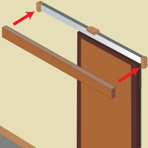 Installer une porte coulissante porte for Installer une porte coulissante